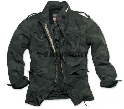 Куртка REGIMENT M65 черный камо