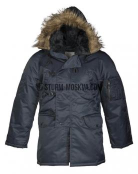 Куртка N3B Аляска TEESAR® синяя NAVY