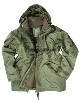 Куртка из мембраны с флисовой подстежкой олива