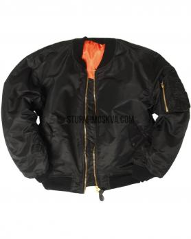 Куртка бомбер BASIC MA1 черная