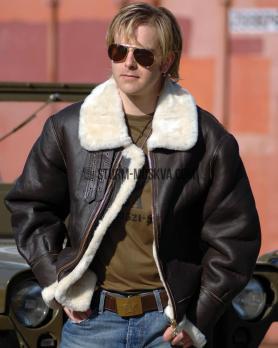 Лётная кожаная куртка US B3 коричневая