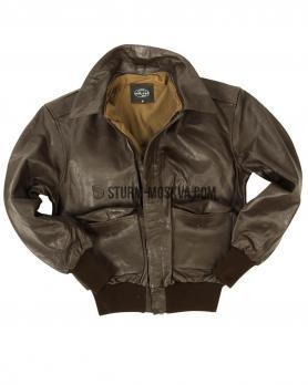 Лётная кожаная куртка А2 коричневая